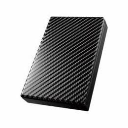 ☆IOデータ USB 3.0/2.0対応ポータブルハードディスク「高速カクうす」 カーボンブラック 2TB HDPT-UT2DK