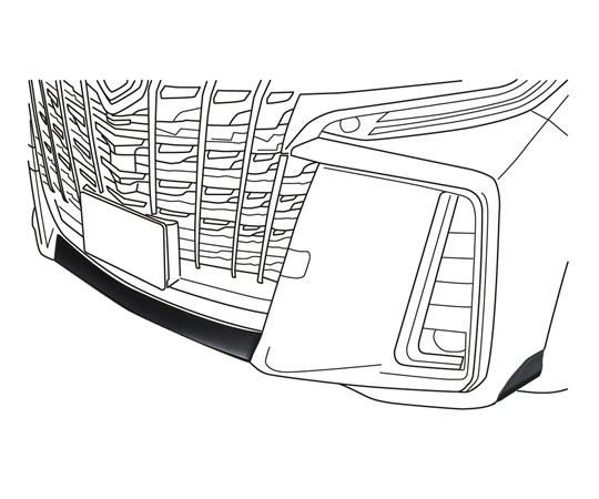 <予約順>ALPINE アルファード エアロボディ専用バンパー下プロテクト SSK-BU01AL-AERO 【NF店】