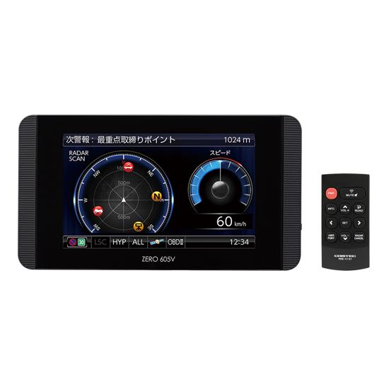 COMTEC OBD接続対応 超高感度GPSレーダー探知機 ZERO605V 【NF店】