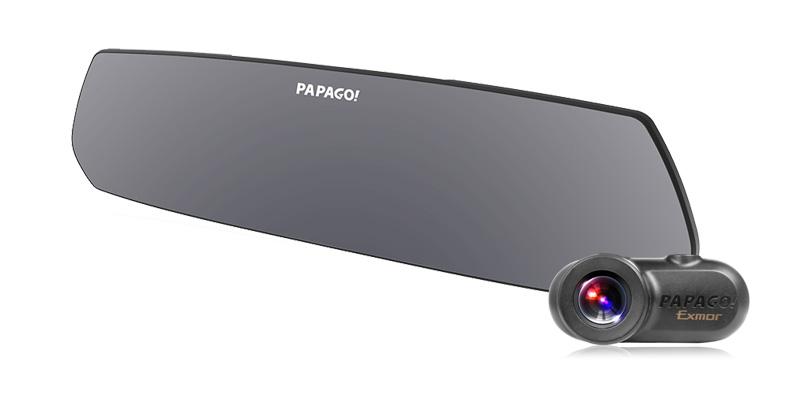 PAPAGO パパゴ GoSafe M790S1 ルームミラー型2カメラドライブレコーダー 【NF】