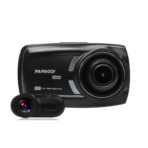 PAPAGO パパゴ GoSafe S70GS1 フルHD高画質オールインワン 2カメラドライブレコーダー 【NF】