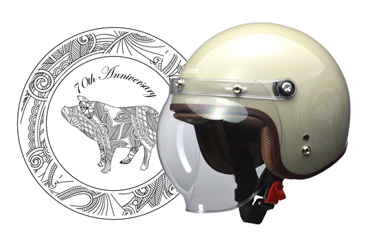 <予約順>LEAD リード工業 NOVIA(ノービア) 70s バブルシールド付スモールロージェットヘルメット レディースフリー(55~57cm未満)デザート 【NF店】
