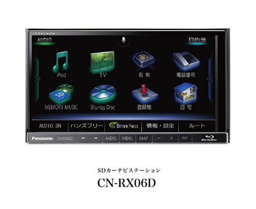 Panasonic パナソニック CN-RX06D ブルーレイ搭載 7インチSDカーナビ 1800mm