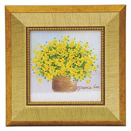 ☆手描き油絵「黄色のブーケ」 K90706626