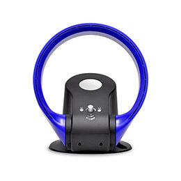 ☆ベルソス 温風機能付き羽根なしサーキュレーター ブルー VS-S100BL