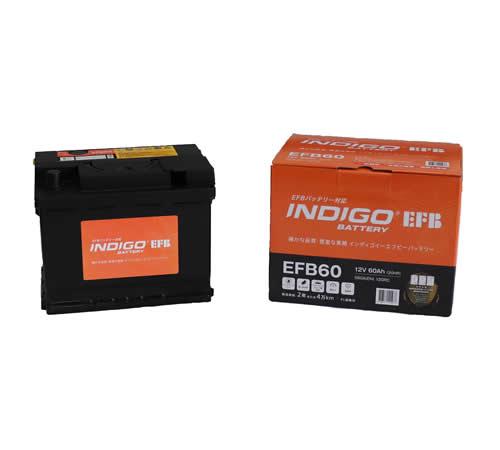 INDIGO 欧州車 アイドリングストップ車対応 EFBバッテリー EFB60