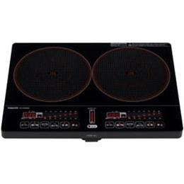 ☆YAMAZEN 2口IH調理器 ブラック YEK-1456G