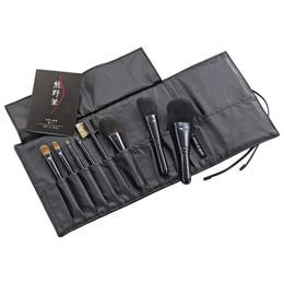 ☆熊野化粧筆セット 筆の心 ブラシ専用本革ケース付き M81316717