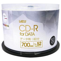 ☆10個セット Lazos データ用 CD-R 50枚組 L-CD50PX10