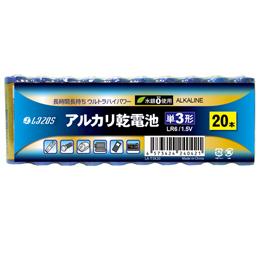 ☆16個セット Lazos アルカリ乾電池 単3形 60本入り B-LA-T3X20X16
