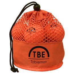 ☆12個セット TOBIEMON 2ピース カラーボール メッシュバック入り オレンジ TBM-2MBOX12