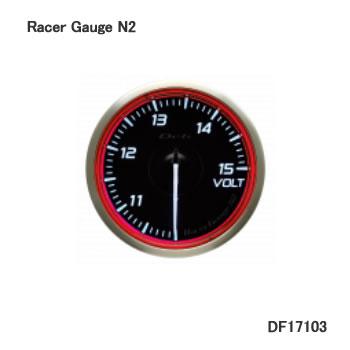 Defi メーター Racer Gauge N2 RED 60φ 電圧計 DF17103