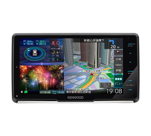 <7月予定>KENWOOD ケンウッド MDV-M907HDF 9インチフローティングナビ ハイレゾ対応 DVD/USB/SD