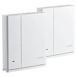☆エレコム 無線LANルーター親機+中継器セット/11ac.n.a.b.g/1733+800Mbps/IPv6(IPoE)対応/メッシュ/ホワイト WMC-2HC-W