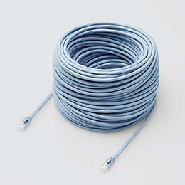 ☆エレコム LANケーブル/CAT6A対応/EU RoHS指令準拠/ツメ折れ防止カバー/簡易パッケージ仕様/60m/単線/ブルー LD-GPAT/BU60/RS