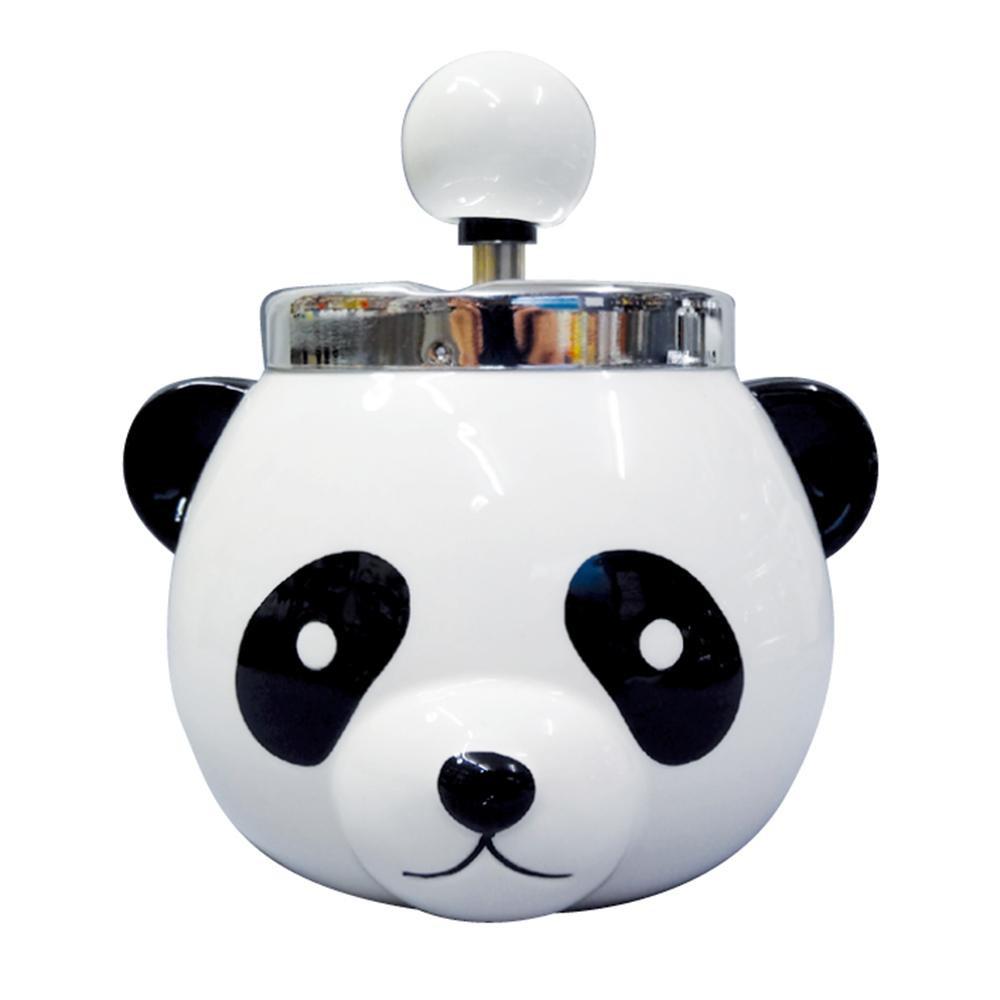 ●【送料無料】パンダ ターンアシュトレイ(灰皿) AR-1379「他の商品と同梱不可/北海道、沖縄、離島別途送料」