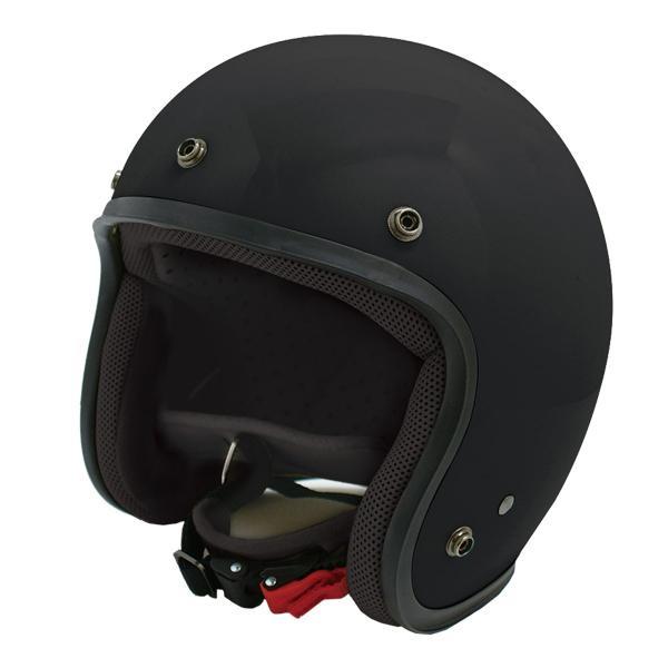●【送料無料】ダムトラックス(DAMMTRAX) JET-D ヘルメット MAT BLACK MENS「他の商品と同梱不可/北海道、沖縄、離島別途送料」