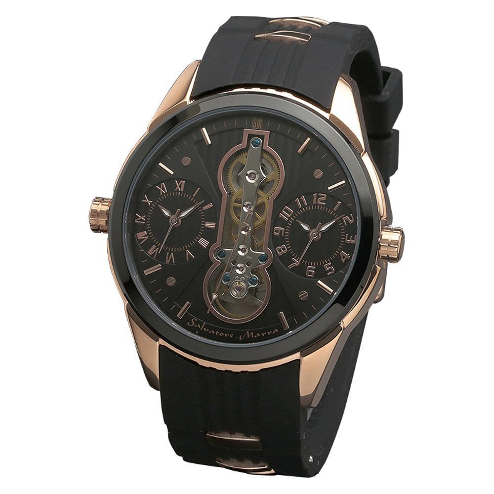 ●【送料無料】Salvatore Marra(サルバトーレマーラ) 腕時計 SM18113-PGBK「他の商品と同梱不可/北海道、沖縄、離島別途送料」
