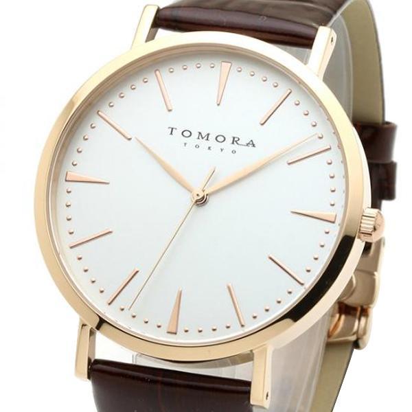 ●【送料無料】TOMORA TOKYO(トモラ トウキョウ) 腕時計 T-1601-PWHBR「他の商品と同梱不可/北海道、沖縄、離島別途送料」