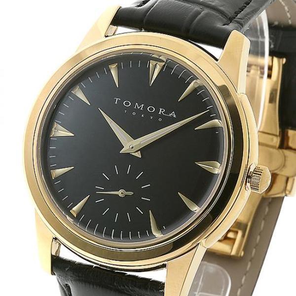 ●【送料無料】TOMORA TOKYO(トモラ トウキョウ) 腕時計 T-1602-GDBK「他の商品と同梱不可/北海道、沖縄、離島別途送料」
