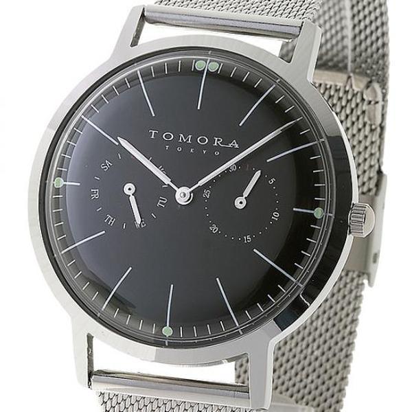 ●【送料無料】TOMORA TOKYO(トモラ トウキョウ) 腕時計 T-1603-BK「他の商品と同梱不可/北海道、沖縄、離島別途送料」
