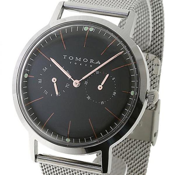 ●【送料無料】TOMORA TOKYO(トモラ トウキョウ) 腕時計 T-1603-PBK「他の商品と同梱不可/北海道、沖縄、離島別途送料」