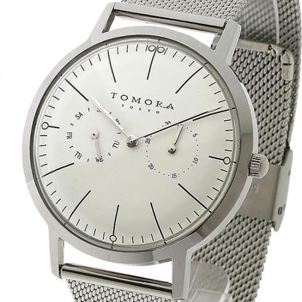 ●【送料無料】TOMORA TOKYO(トモラ トウキョウ) 腕時計 T-1603-WH「他の商品と同梱不可/北海道、沖縄、離島別途送料」