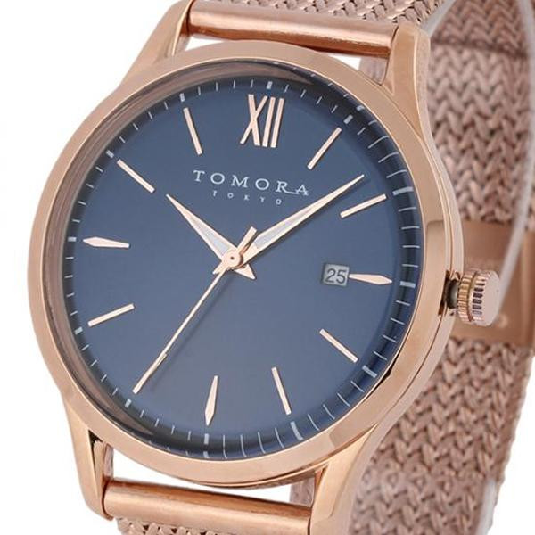 ●【送料無料】TOMORA TOKYO(トモラ トウキョウ) 腕時計 T-1605SS-PBL「他の商品と同梱不可/北海道、沖縄、離島別途送料」