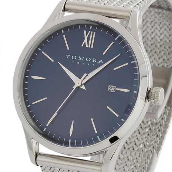 ●【送料無料】TOMORA TOKYO(トモラ トウキョウ) 腕時計 T-1605SS-SBL「他の商品と同梱不可/北海道、沖縄、離島別途送料」