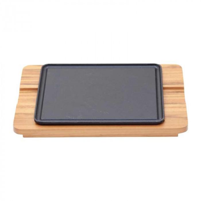 ●【送料無料】シュラスコ 角ステーキ鉄板セット 10239/162「他の商品と同梱不可/北海道、沖縄、離島別途送料」