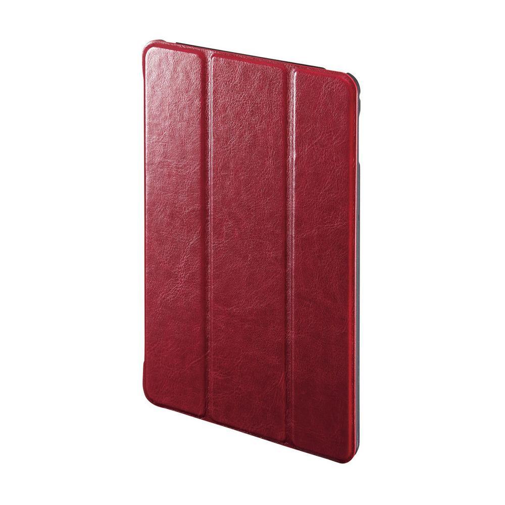 ●【送料無料】サンワサプライ iPad mini 2019 ソフトレザーケース レッド PDA-IPAD1407R「他の商品と同梱不可/北海道、沖縄、離島別途送料」