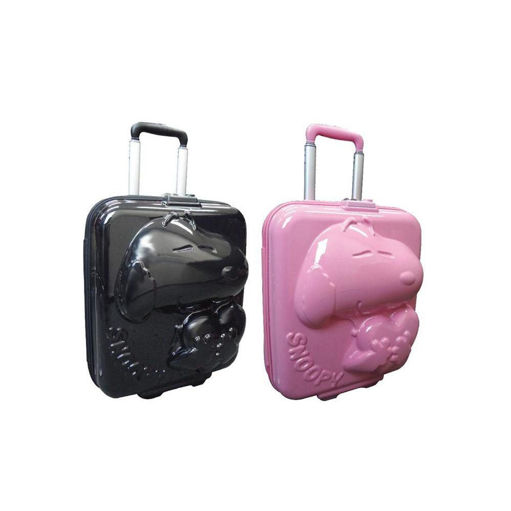 ●【送料無料】スヌーピー ダイカットキャリーケース スーツケース 26L「他の商品と同梱不可/北海道、沖縄、離島別途送料」