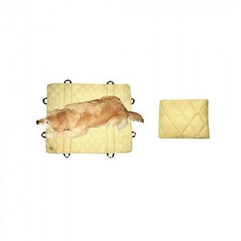 ●【送料無料】ペット用品 防臭&防水 介護取っ手つきマット マクラ付き 100×100cm ベージュ OK370「他の商品と同梱不可」