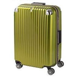 ●【送料無料】協和 TRAVELIST(トラベリスト) スーツケース ストリークII フレームハード Lサイズ TL-14 ライムヘアライン・76-20237「他の商品と同梱不可/北海道、沖縄、離島別途送料」