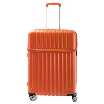 ●【送料無料】協和 ACTUS(アクタス) スーツケース トップオープン トップス Lサイズ ACT-004 オレンジカーボン・74-20336「他の商品と同梱不可/北海道、沖縄、離島別途送料」