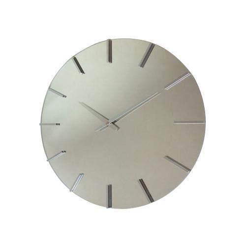 ●【送料無料】アクトレスクロック ステップ時計 シルバー V-0056「他の商品と同梱不可/北海道、沖縄、離島別途送料」