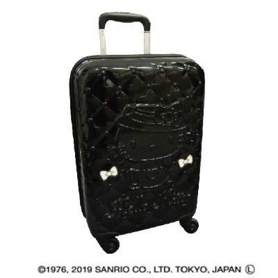 ●【送料無料】サンリオ ハローキティ&キルティング柄 115cm キャリーケース SR700BK-9「他の商品と同梱不可/北海道、沖縄、離島別途送料」