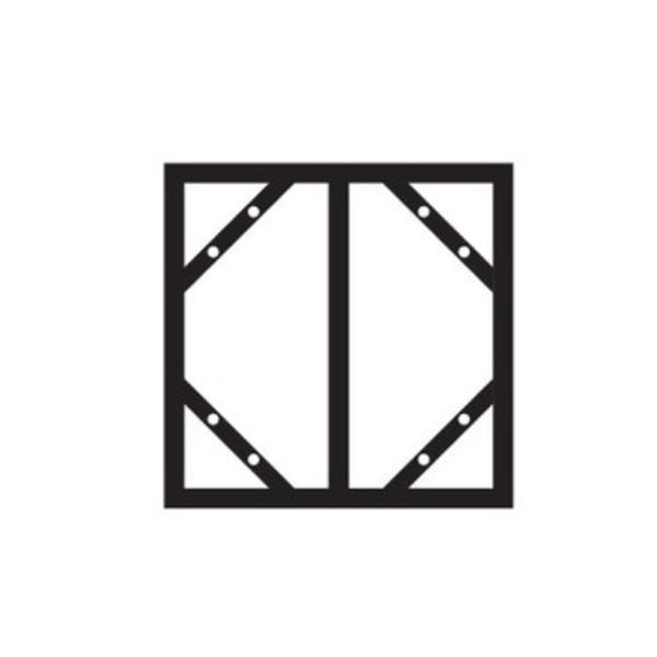 ●【送料無料】スラインドアングル(300×600mm・明治山型用) KHY-2SA 055200「他の商品と同梱不可/北海道、沖縄、離島別途送料」