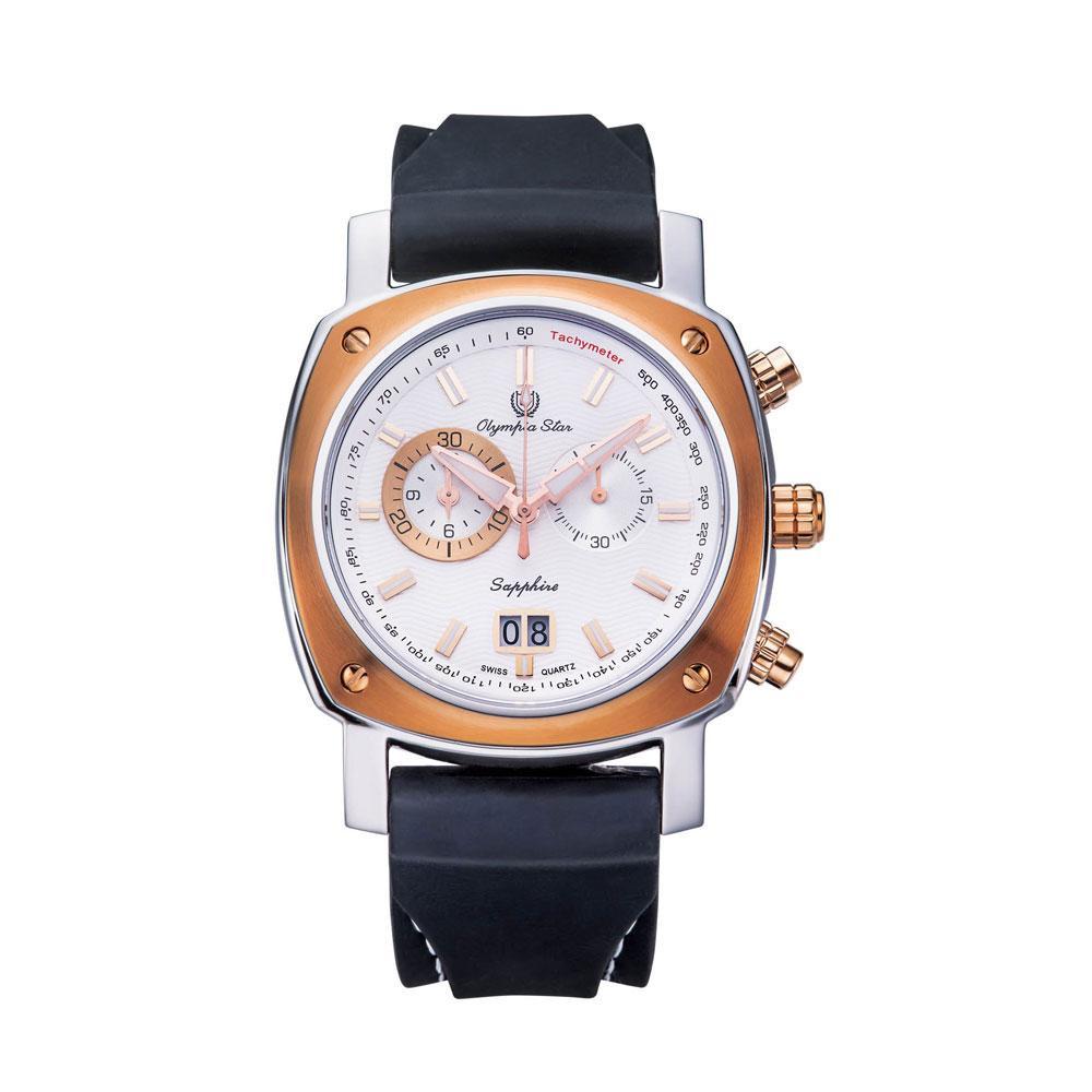 ●【送料無料】OLYMPIA STAR(オリンピア スター) メンズ 腕時計 OP-589-02MSR-3「他の商品と同梱不可/北海道、沖縄、離島別途送料」