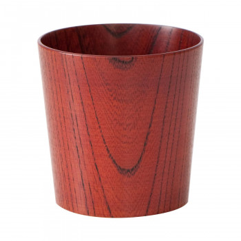 ●【送料無料】木のコップ 欅 漆赤 5個セット「他の商品と同梱不可/北海道、沖縄、離島別途送料」