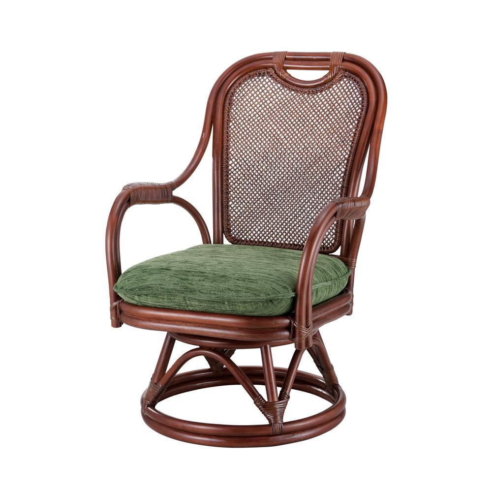 ●【送料無料】今枝ラタン 籐 シーベルチェア 回転椅子 グローバル A-255MD「他の商品と同梱不可/北海道、沖縄、離島別途送料」
