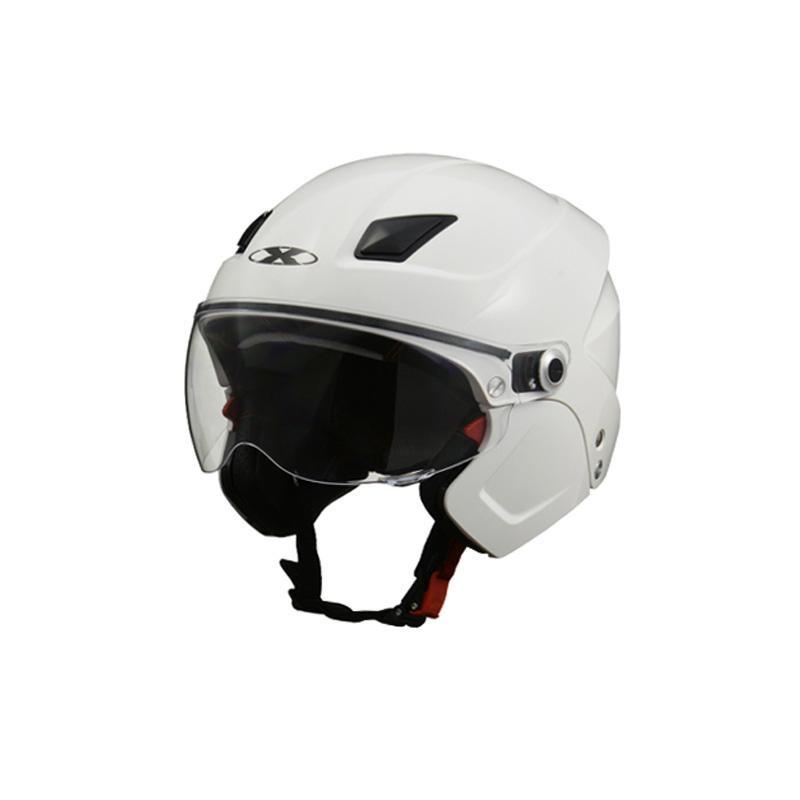 ●【送料無料】リード工業 X-AIR SOLDAD システムセミジェットヘルメット ホワイト フリーサイズ「他の商品と同梱不可/北海道、沖縄、離島別途送料」