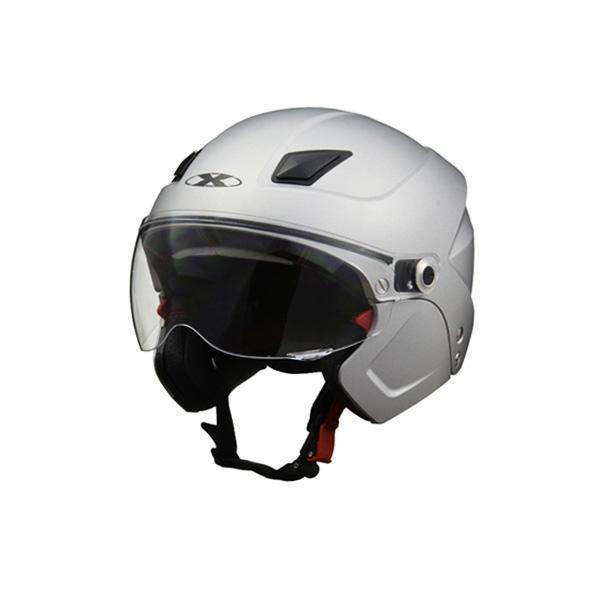●【送料無料】リード工業 X-AIR SOLDAD システムセミジェットヘルメット マットシルバー フリーサイズ「他の商品と同梱不可/北海道、沖縄、離島別途送料」