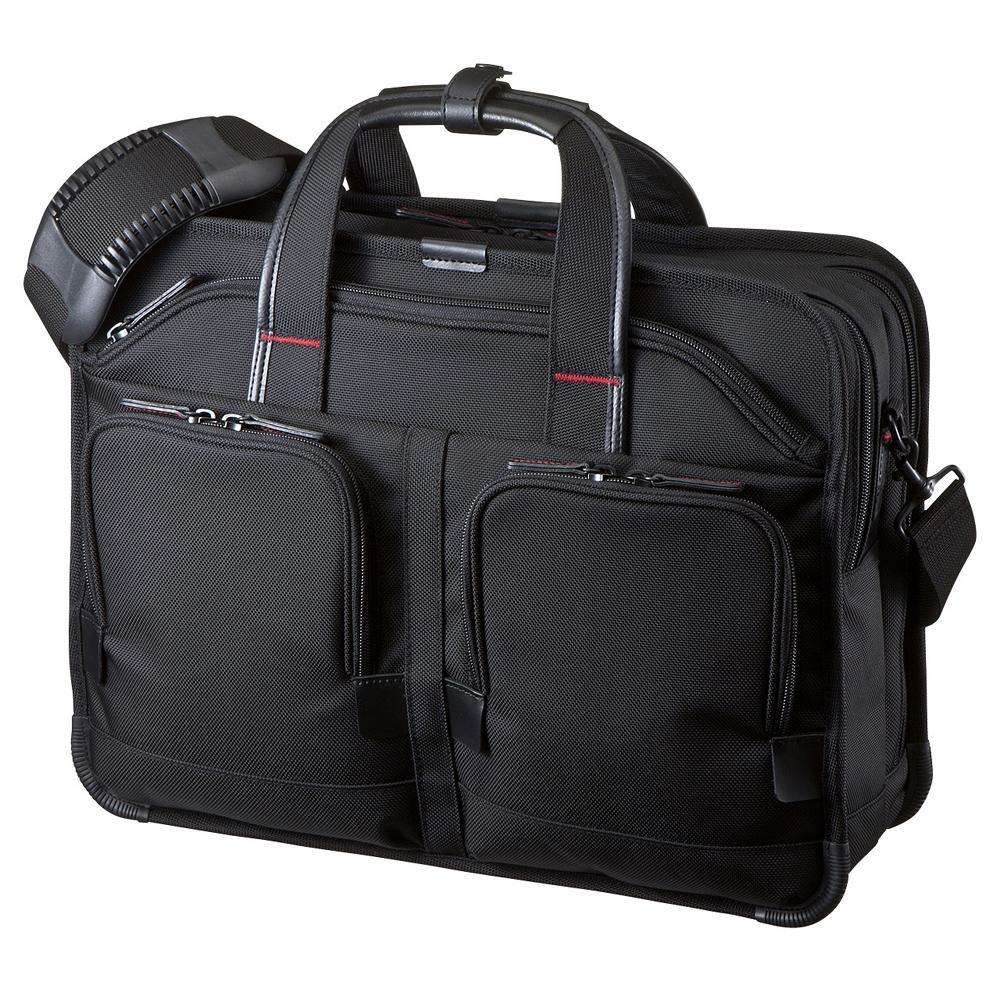 ●【送料無料】サンワサプライ エグゼクティブビジネスバッグPRO ダブル BAG-EXE8「他の商品と同梱不可/北海道、沖縄、離島別途送料」