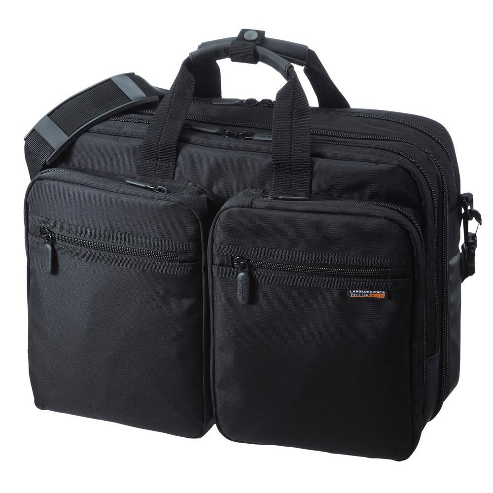 ●【送料無料】サンワサプライ 3WAYビジネスバッグ 出張用 BAG-3WAY21BK「他の商品と同梱不可/北海道、沖縄、離島別途送料」