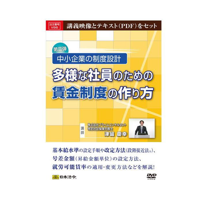 ●【送料無料】DVD 中小企業の制度設計 多様な社員のための賃金制度の作り方 V86「他の商品と同梱不可/北海道、沖縄、離島別途送料」