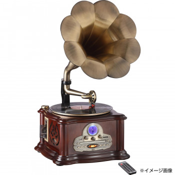 高級天然木仕上げ蓄音機型プレーヤーです 送料無料 高級 天然木仕上げ 蓄音機型プレーヤー 中古 他の商品と同梱不可 割引も実施中 北海道 沖縄 離島別途送料 RP-013C