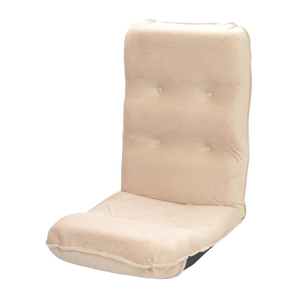●【送料無料】【代引不可】ハイバック座椅子 ボア ベージュ「他の商品と同梱不可/北海道、沖縄、離島別途送料」