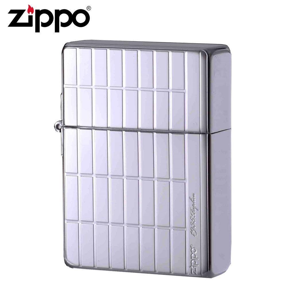 ●【送料無料】ZIPPO(ジッポー) オイルライター 1935SQ-PP「他の商品と同梱不可/北海道、沖縄、離島別途送料」
