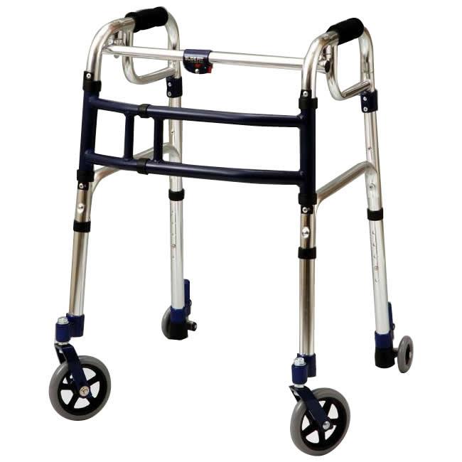 ●【送料無料】優羽 伸縮歩行器スライドフィット・Lタイプ 室内・屋外兼用タイプ L-0195C「他の商品と同梱不可」